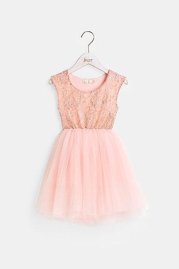 britt芭蕾洋裝/公主蕾絲/玫瑰粉