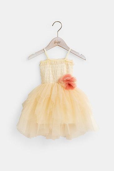 britt芭蕾洋裝/精靈粉撲/香草白