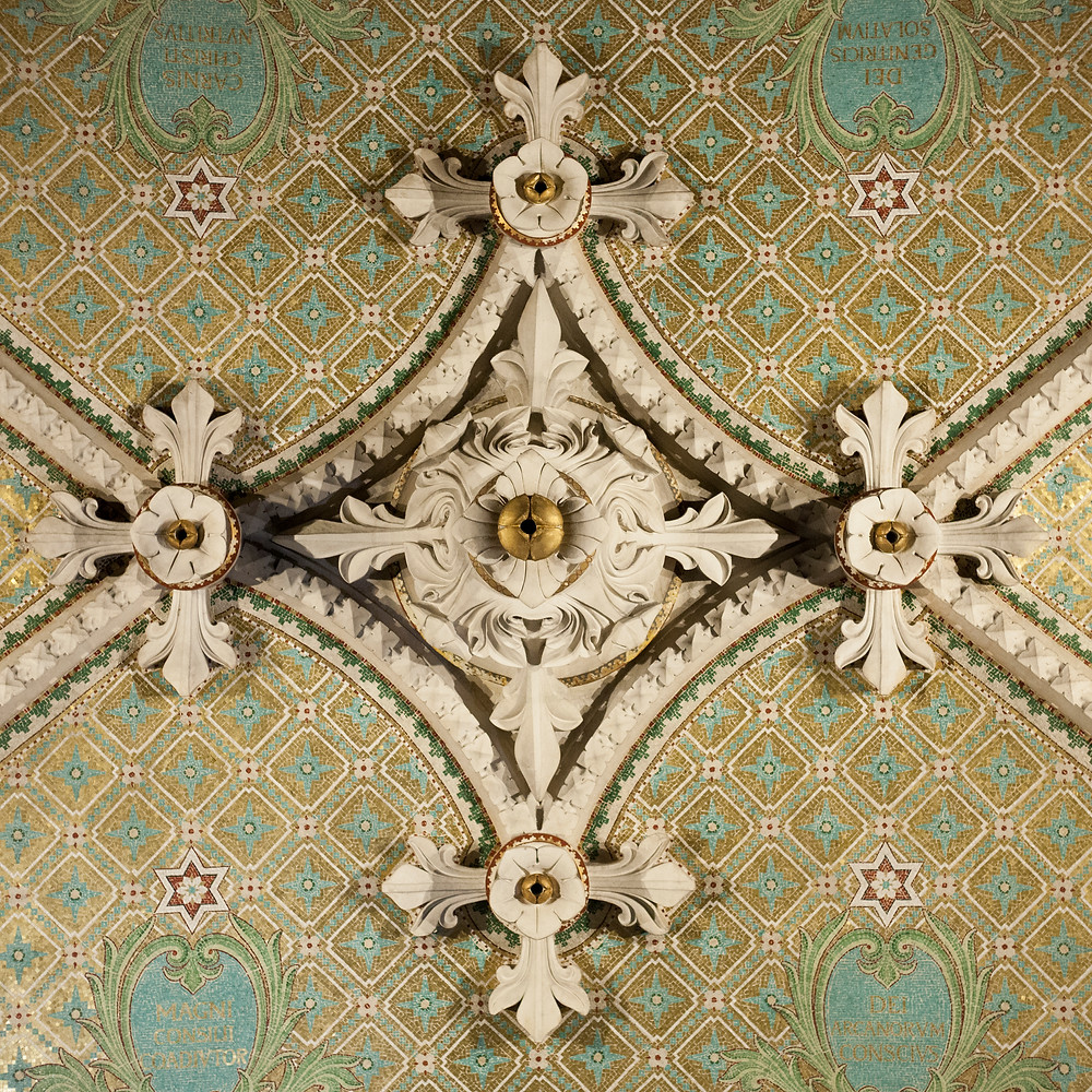 Decor in the Basilica of Notre-Dame de Fourvière