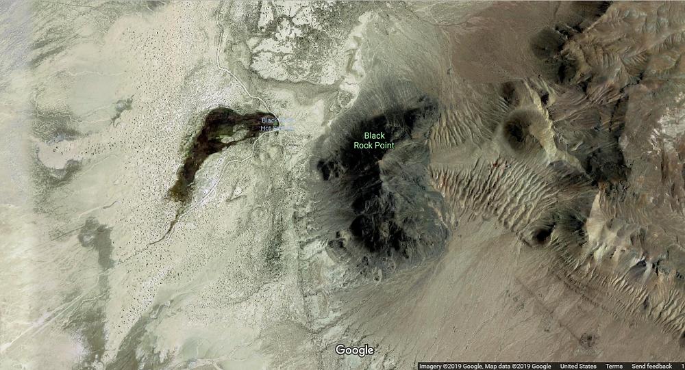birds eye view of black rock point