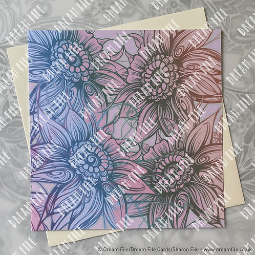 Otto - Floral Card, Blank Card, Gallery-Style Greetings Card