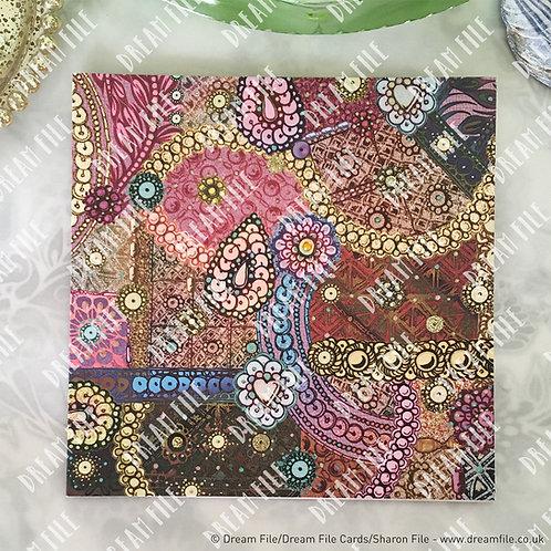 Brocade - Greetings Card