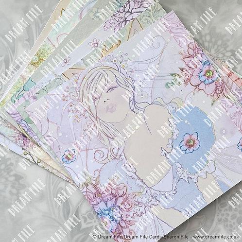Fairy Dust Bundle - Pack of 6 Fairy Design Blank Greetings Cards