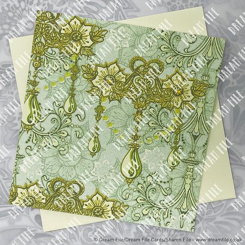 Ricorda - Floral Card, Blank Card, Gallery-Style Greetings Card