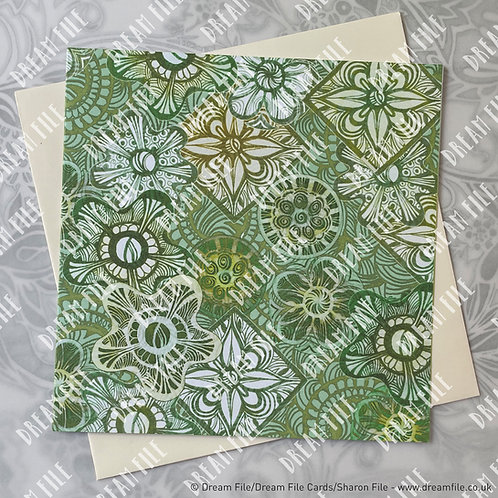 A Spiro… - Pattern Card, Blank Card, Gallery-Style Greetings Card