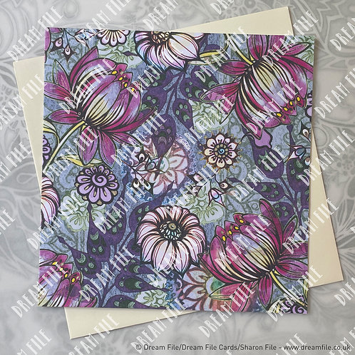 Elusive - Floral Card, Blank Card, Gallery-Style Greetings Card