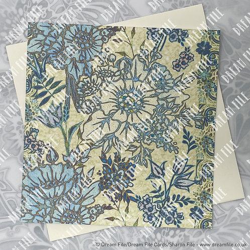 Bloom & Gro – floral pattern designer card  unique, boutique, h