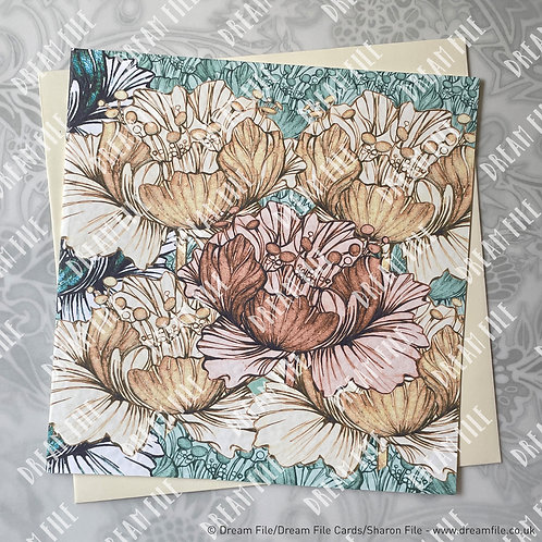 Blooming Loads - Floral Card, Blank Card, Gallery-Style Greetings Card