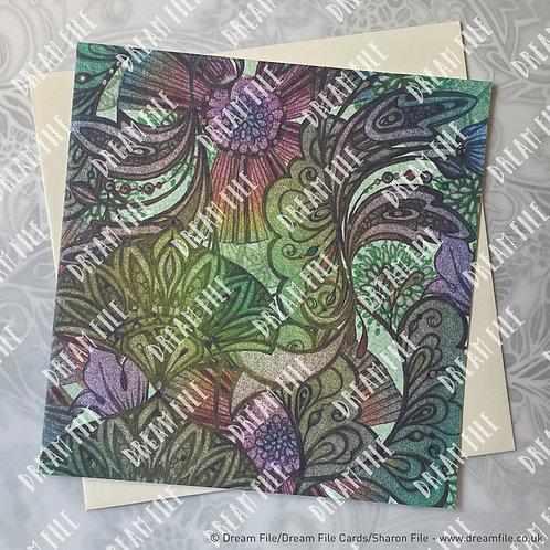 Dusk - Pattern Card, Blank Card, Gallery-Style Greetings Card