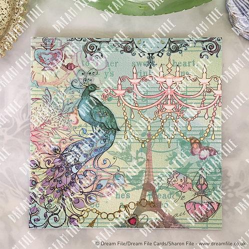 Paris Vintage - Greetings Card