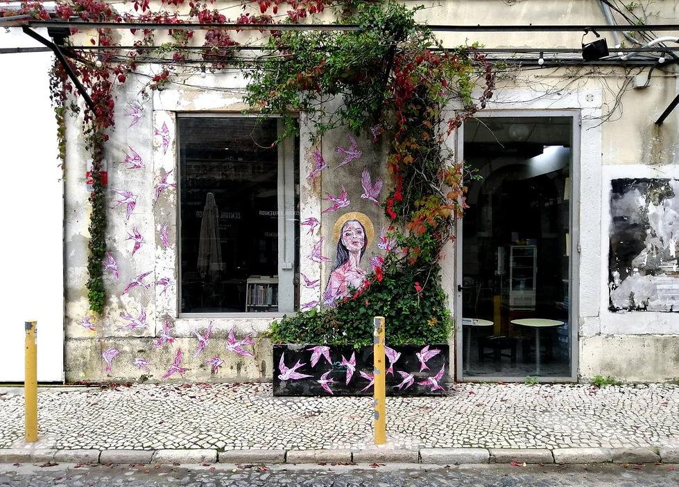 Jacqueline de Montaigne street art pasteup