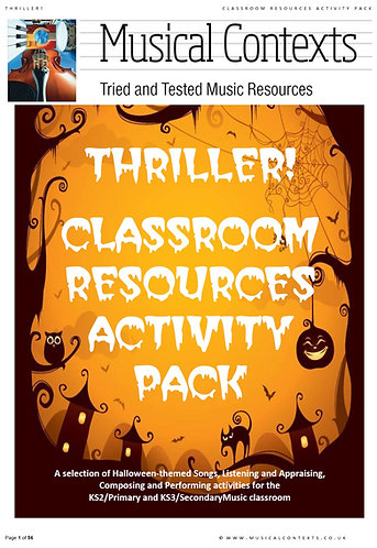 Thriller! - Classroom Resources Activity Pack