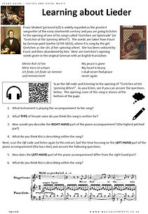 GCSE AS A Level Music Vocal Music