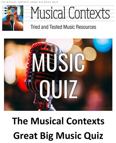 The Musical Contexts Great Big Music Quiz