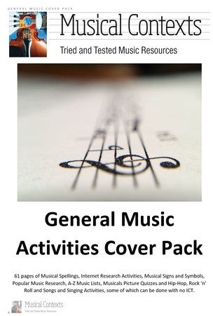 The Musical Contexts General Music Activities Cover Pack