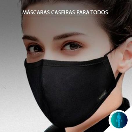 Uso massivo de máscaras caseiras por cidadãos pode reduzir a velocidade de contágio por COVID-19