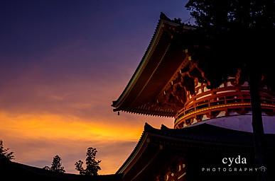 Koyasan in sunset