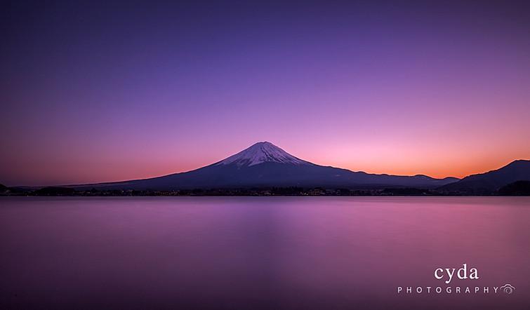 Mount Fuji in Purple
