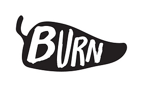 burn logo vector black and white outline