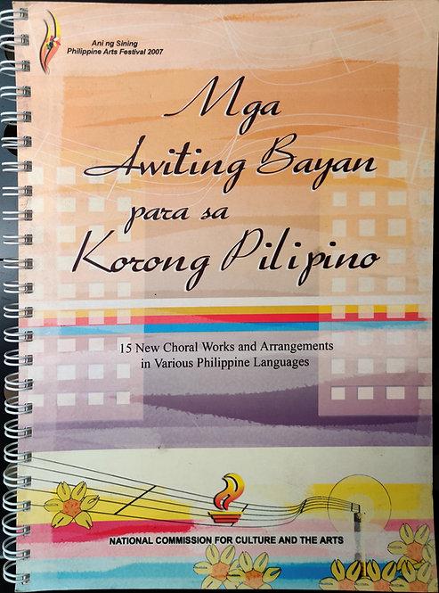 Mga Awiting Bayan Para sa Korong Pilipino
