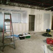 Reception area drywall