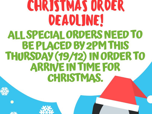 Christmas is coming, make sure you order in time!