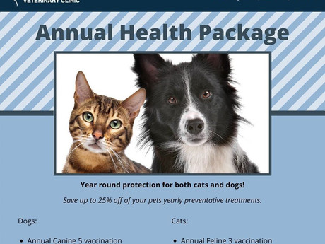 Have you heard about our Annual Health Package?