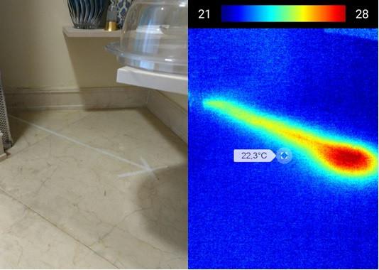 Aplicações da Termografia por Infravermelho: Caça Vazamentos