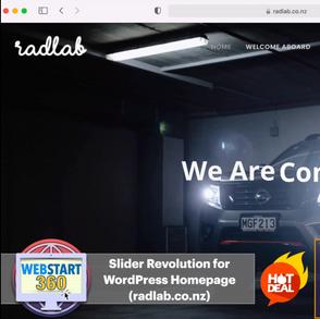 Slider Revolution for Radlab