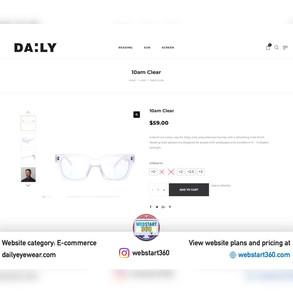 E-commerce website for dailyeyewear.com