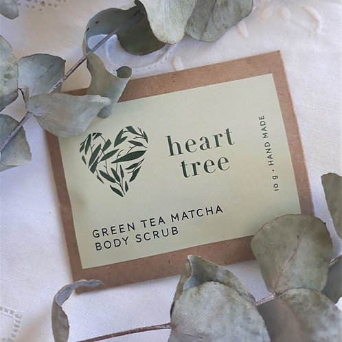 10g Green Tea Matcha Body Scrub