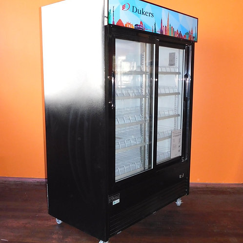 Dukers Sliding Glass Door Merchandiser Refrigerator