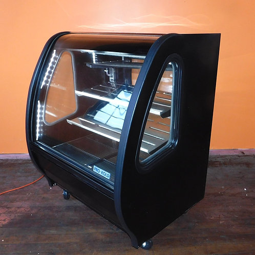 like-new, affordable, commercial, kitchen equipment, allentown, pro-kold, refrigerated, display case, curved glass, 40""