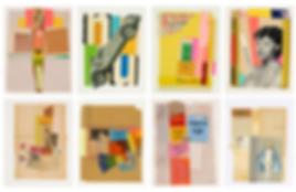 Collages de Dunc Hannah à la Galerie Pixi à Paris