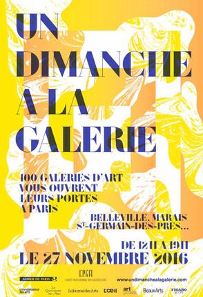 Évènement / Ce dimanche 27 novembre, la galerie est ouverte !