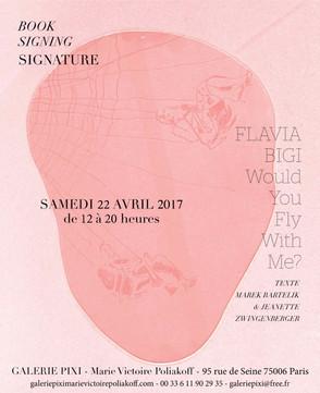 Signature / Flavia Bigi dédicace son livre à la galerie