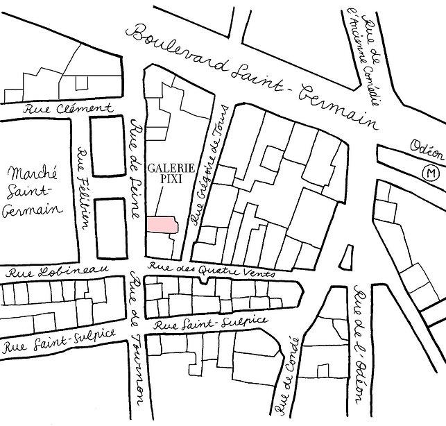 Carte localisation Galerie Pixi - Marie Victoire Poliakoff