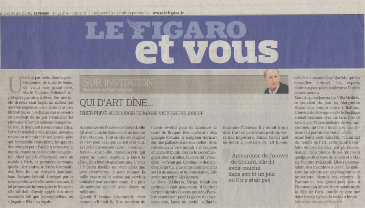 Le Figaro - Avril 2013