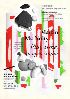 Martin Mc Nulty à la Galerie Épisodique