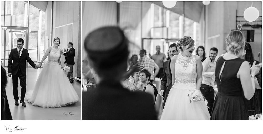 Arrivée des mariés dans la salle