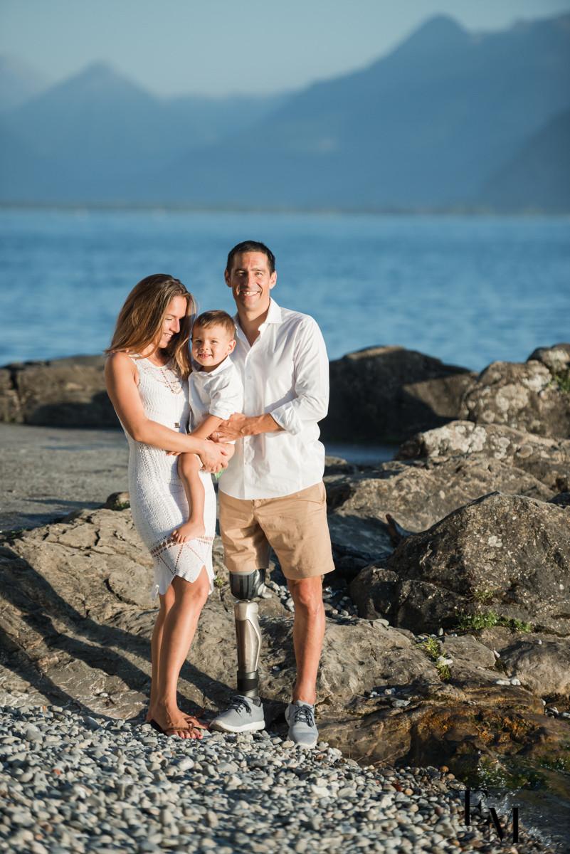trop belles photos famille bord du lac