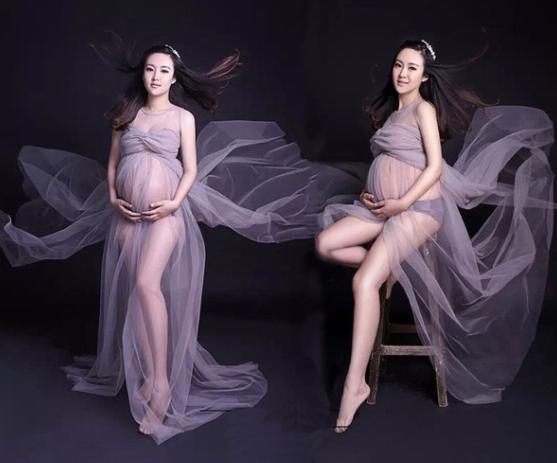 Robe de grossesse grise