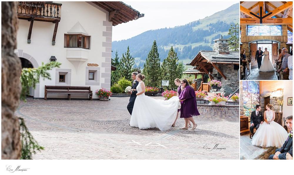 Arrivée de la mariée au Hameau