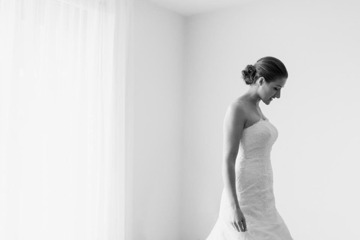 Moment extraordinaire d'une mariée