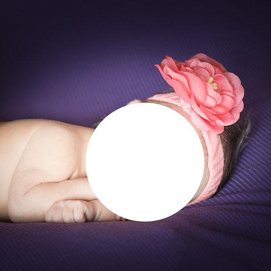 bandeau fleur avec culotte assortie