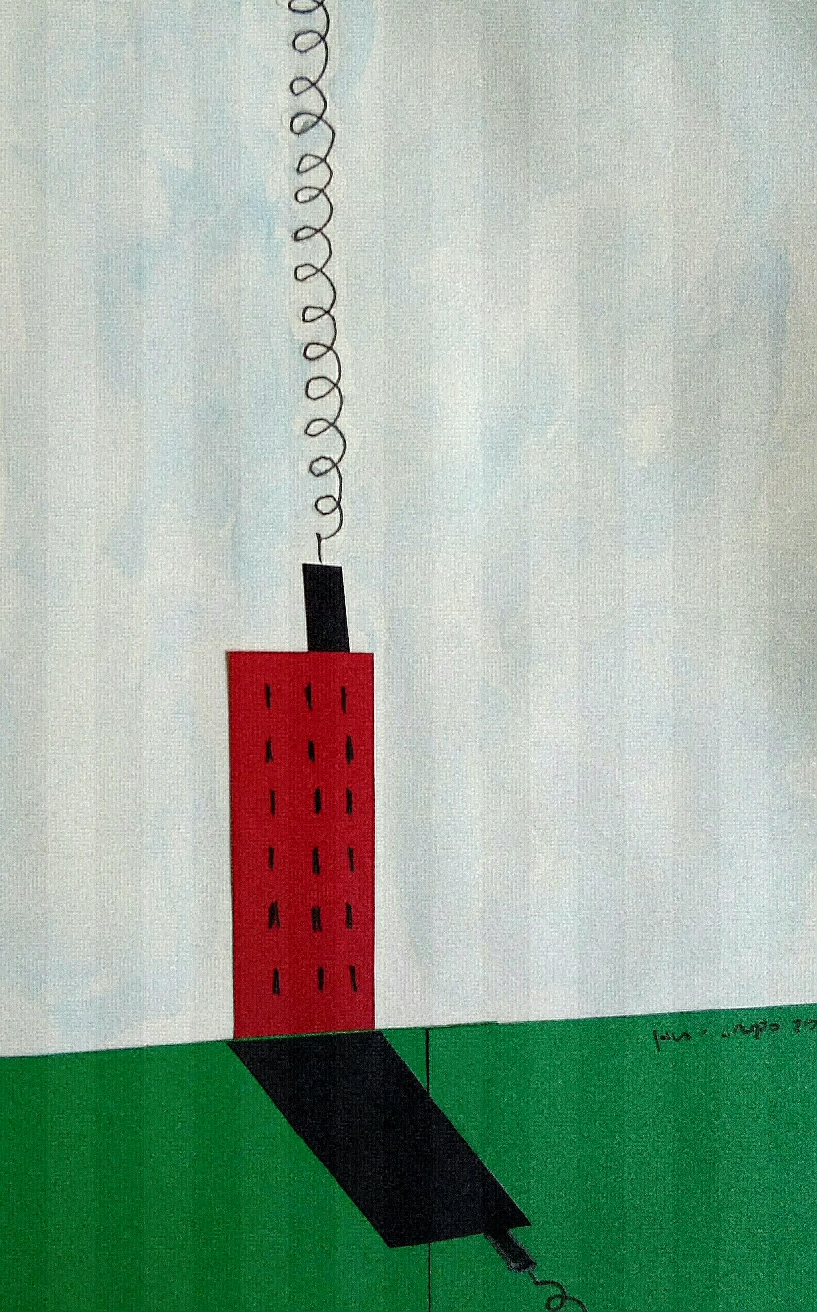 """""""Polución verde"""" , collage-tinta"""