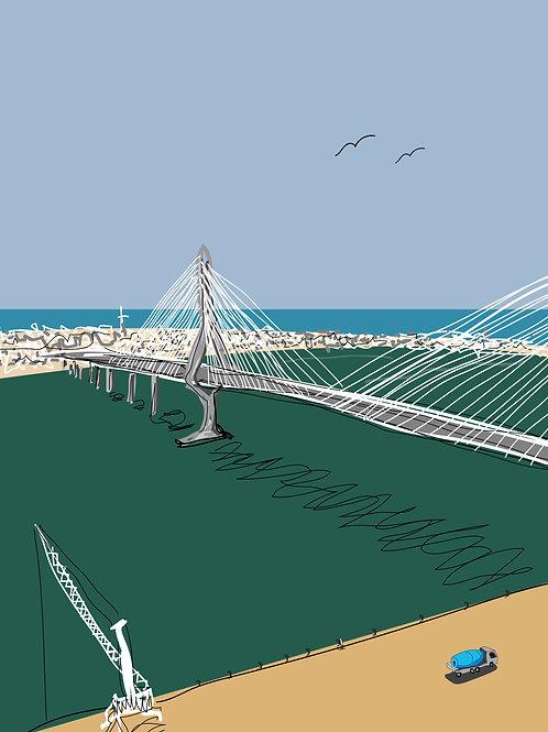 Cádiz. Ilustración digital 50x70cm