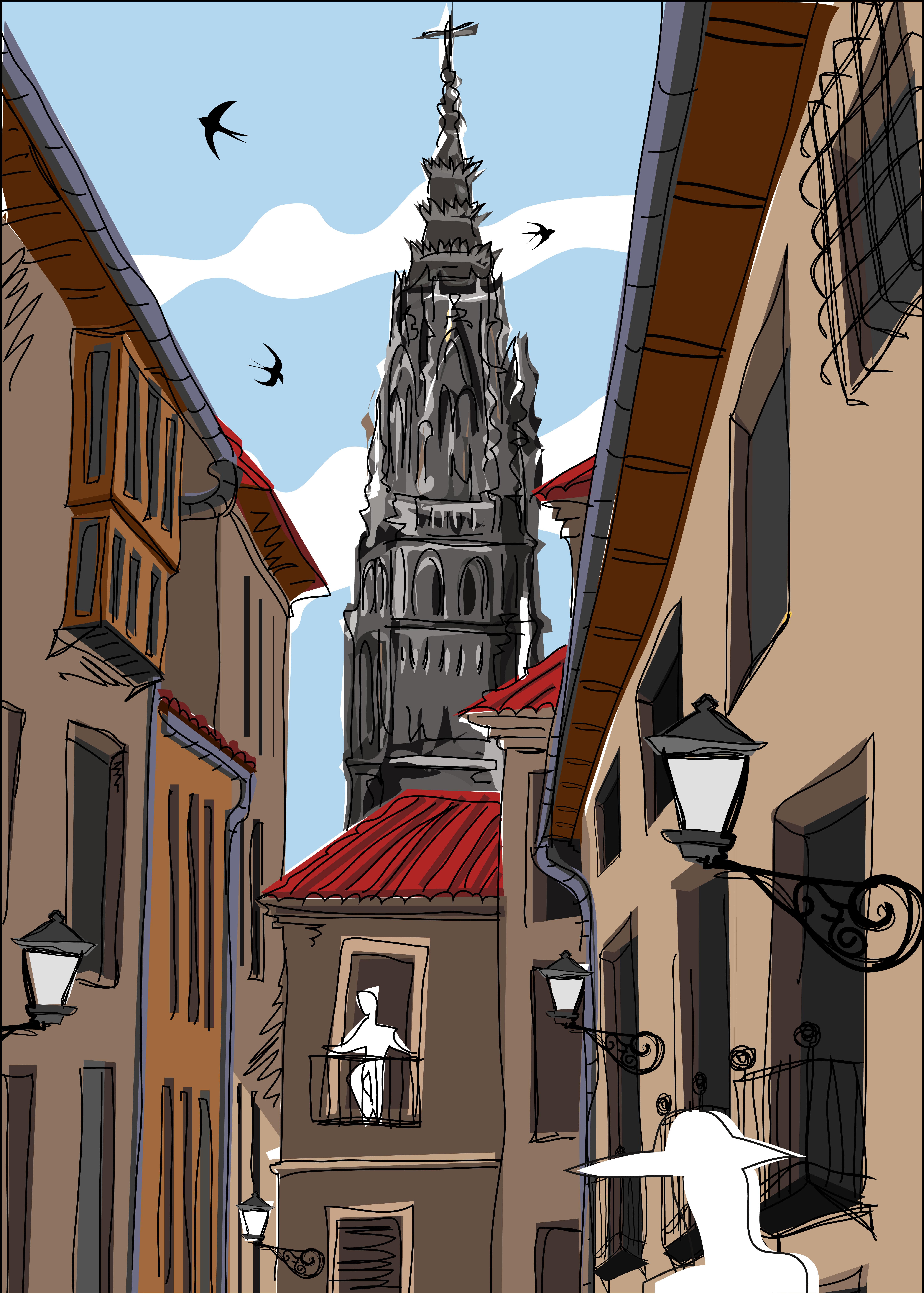 Toledo calle de día Gicleé-03