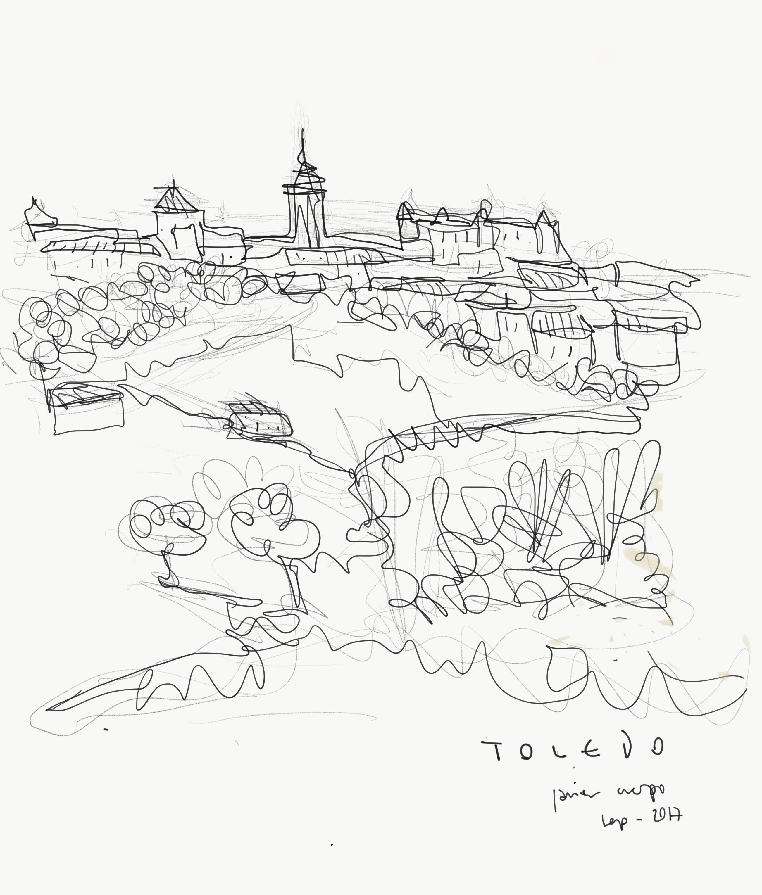 Toledo , lápìz y tinta