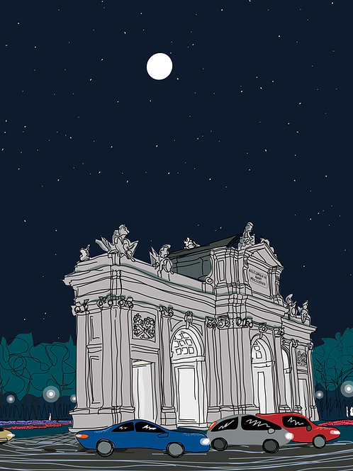Puerta de Alcalá. Madrid. Ilustración Digital 50 x 70 cm .